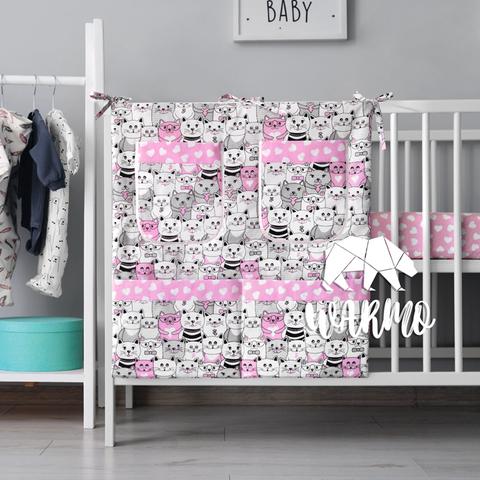 органайзер для ліжечка з рожевими котиками фото