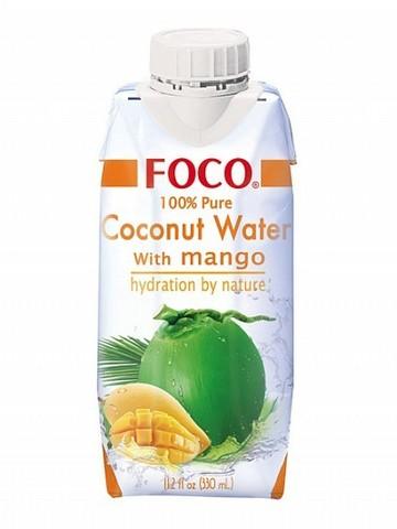 Кокосовая вода с соком манго FOCO   330мл.