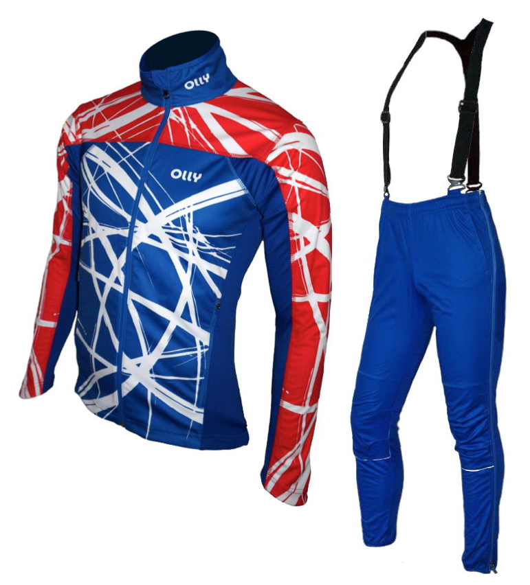 Зимний лыжный разминочный костюм OLLY Russia (140201) унисекс