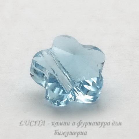 5744 Бусина в виде цветка Сваровски Aquamarine 8 мм