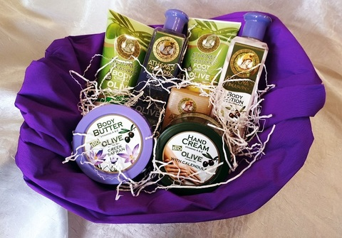 Подарочный набор греческой оливковой косметики Календула шафран