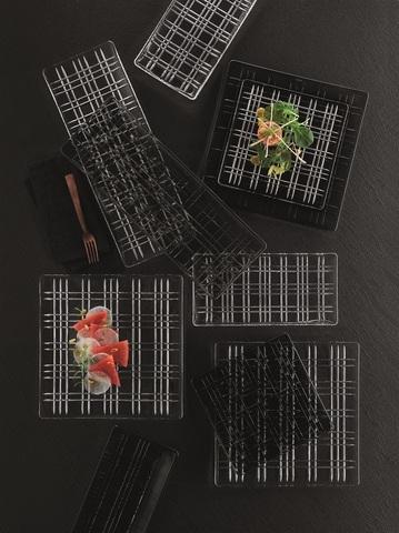 Квадратное серое блюдо артикул 101451. Серия Square
