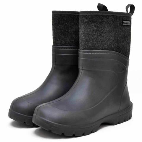 Ботинки из ЭВА Nordman Short черные с высоким вкладышем