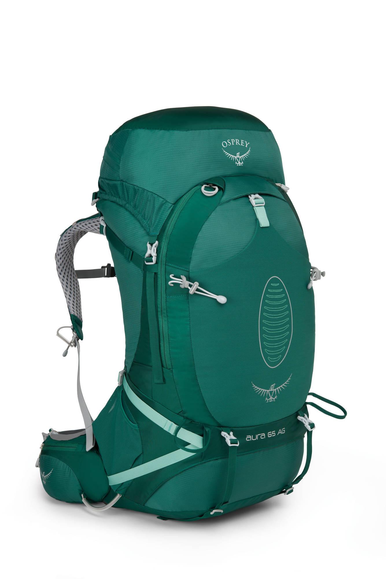 Туристические рюкзаки Рюкзак туристический женский Osprey Aura AG 65 Aura_AG_65_Side_Rainforest_Green_web.jpg