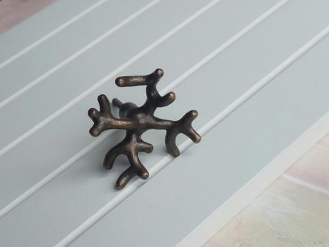 Ручка мебельная металлическая - коралл, арт. 000822