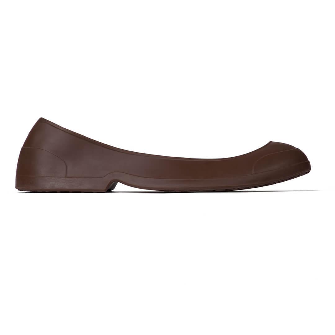 Мужские галоши на обувь с каблуком коричневые