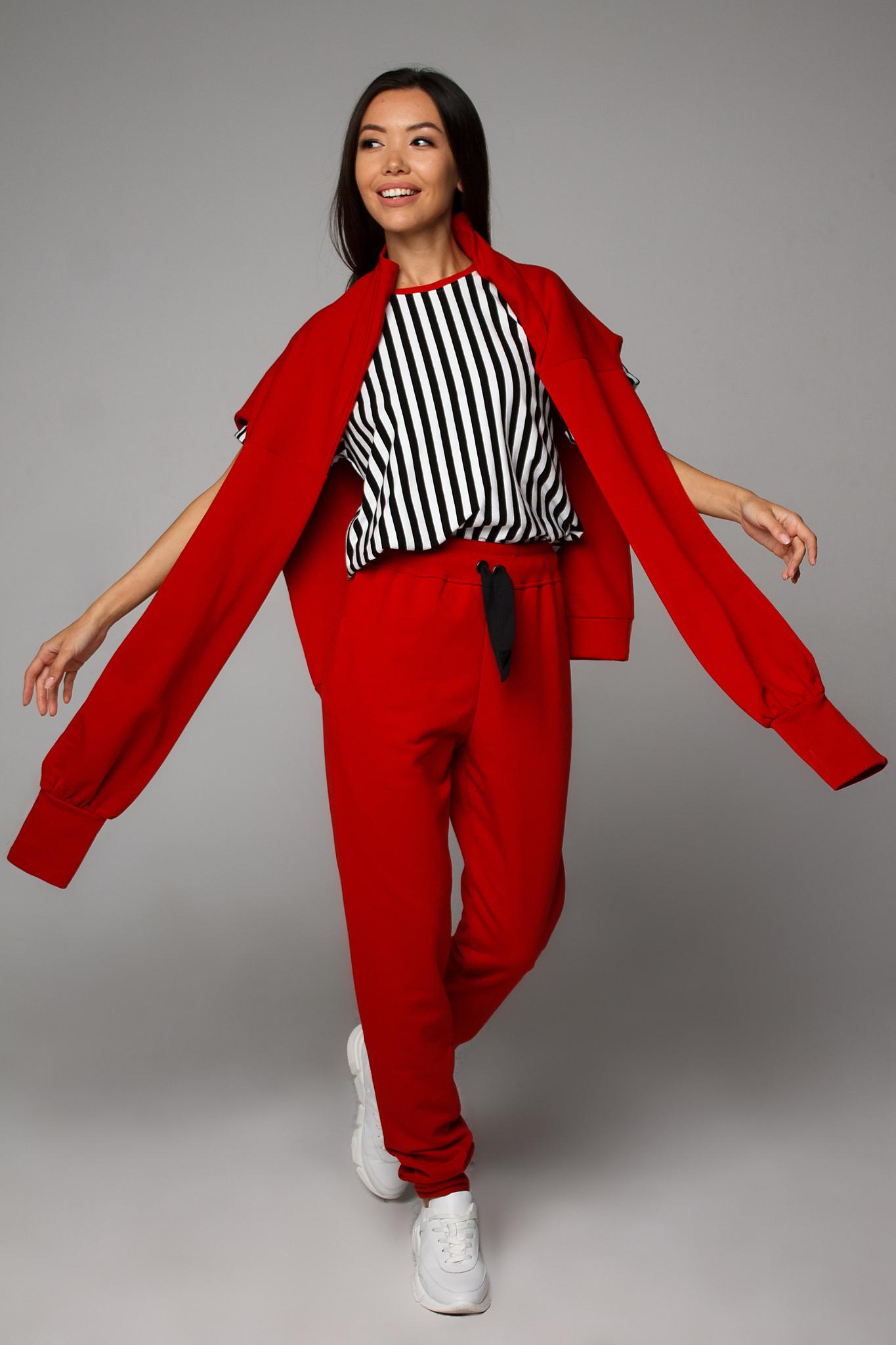 Брюки красные трикотажные (низ от костюма) YOS