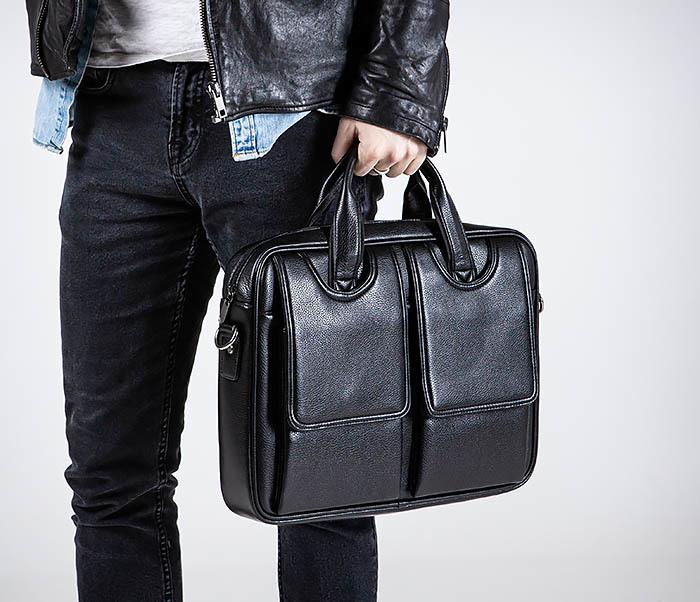 BAG536-1 Вместительный мужской портфель из кожи