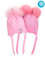 684B-2 шапка для девочек, розовая