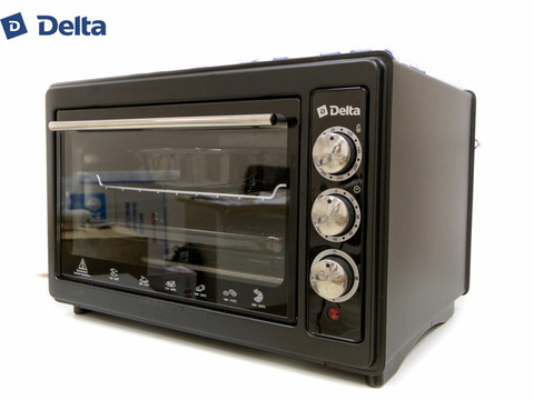 Духовка электрическая 37л DELTA D-023 с ТЭНом повышенной мощности (рестайлинг) черная