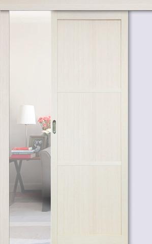 Перегородка межкомнатная Optima Porte 130.111, цвет беленый дуб, глухая (за 1 кв.м)