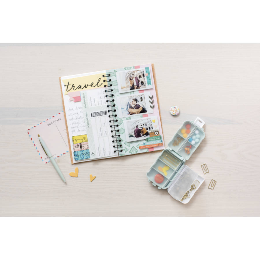 Шкатулка We R Journal Embellishment Organizer Mint