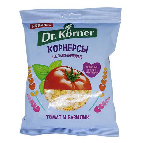 Dr. Korneк Чипсы ц/з кукурузно-рисовые с томатом и базиликом 50 гр.