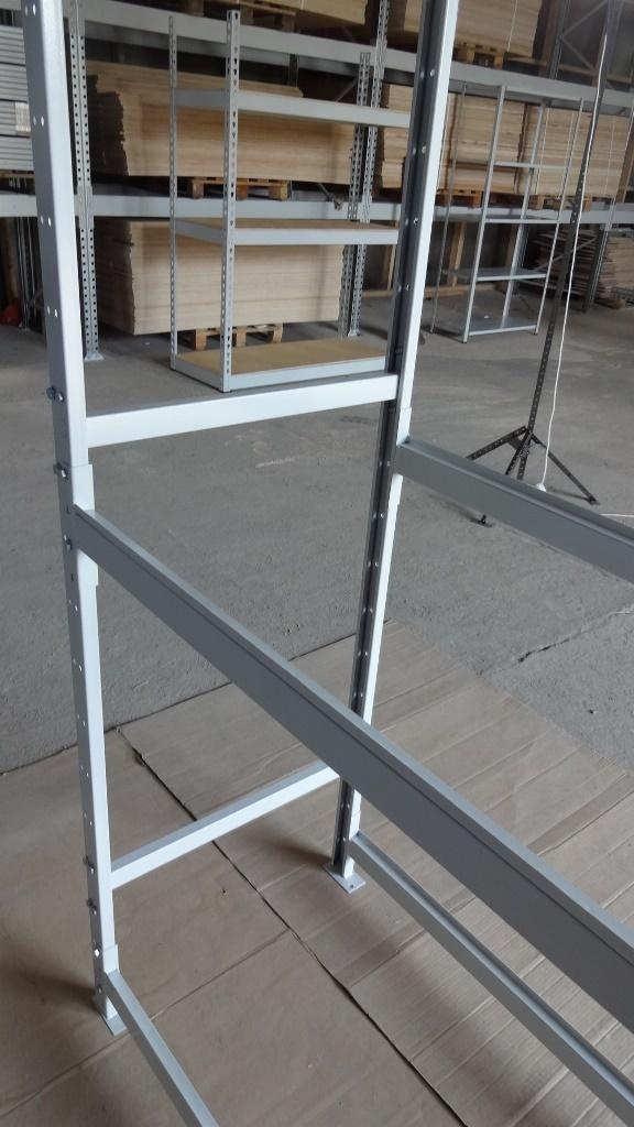 Металлический напольный стеллаж глубиной 600 мм