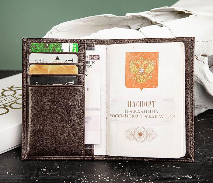 BC216-2 Мужская обложка на паспорт «Atos» с отделениями для карт