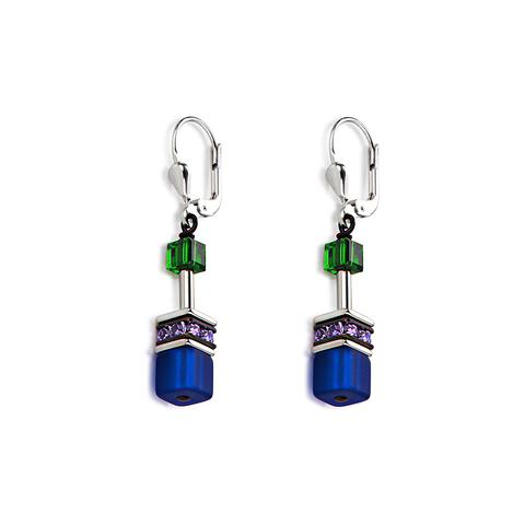Серьги Coeur de Lion 2838/20-1554 цвет синий, зелёный