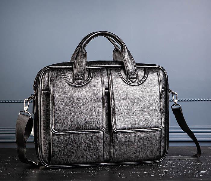 BAG536-1 Вместительный мужской портфель из кожи фото 04