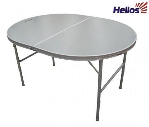 Стол складной овальный (алюминий) (T-21407M) Helios