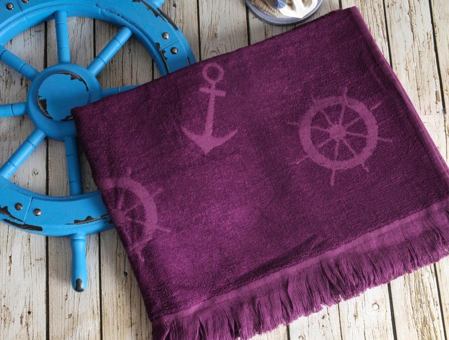 Полотенца для бани и сауны SEASIDE Mor полотенце пляжное бамбуковое  IRYA (Турция) SEASIDE_Mor__фиолетовый_.jpg