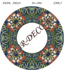 Эскиз для росписи, Зеркало диаметр 29см, SMAR-zmk-7