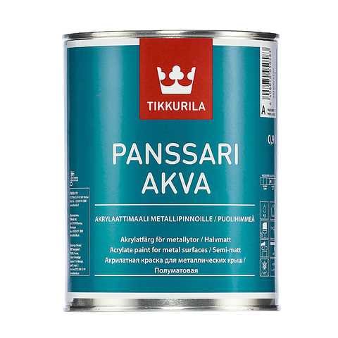 Tikkurila Panssari Akva/Тиккурила Панссари Аква водоразбавляемая краска для металла