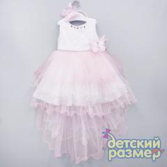 Платье 98-122 (ободок и брошь пайетки)