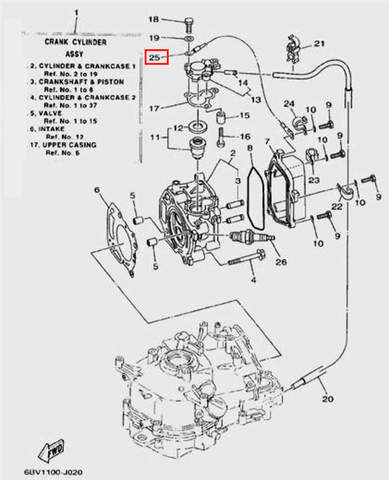 Провод заземления L=320mm для лодочного мотора F5 Sea-PRO(2-25)