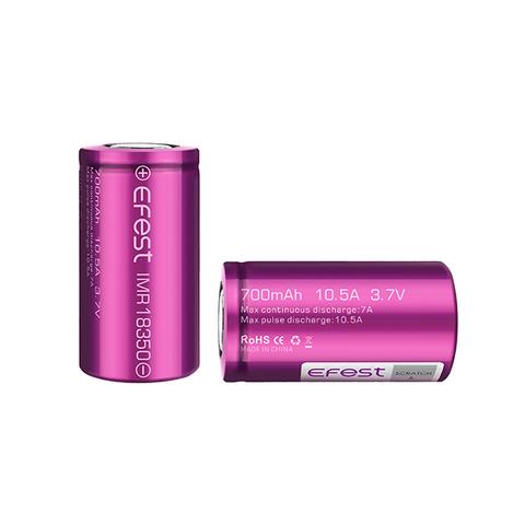 Аккумулятор 18350 Efest Li-Mn 3.7V 700mA, 10.5А