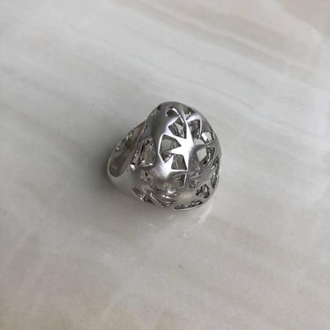 Кольцо Олимпиа, серебряный цвет