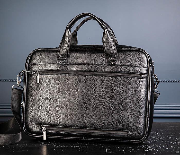BAG536-1 Вместительный мужской портфель из кожи фото 05