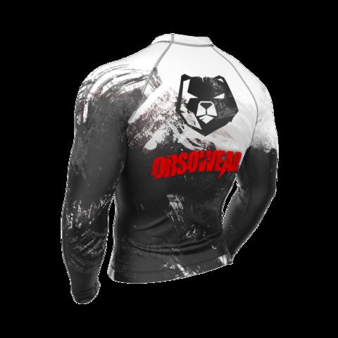 купить рашгард мужской orso red с длинным рукавом для фитнеса единоборств занятий спортом