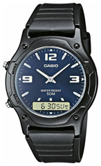 Мужские японские электронные наручные часы Casio AW-49HE-2АVDF