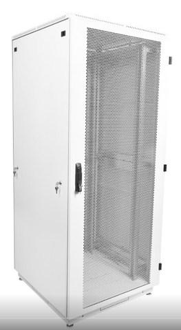 Шкаф телекоммуникационный напольный 47U (600 × 800) дверь перфорированная