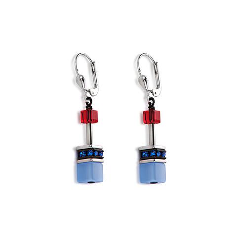 Серьги Coeur de Lion 2838/20-1559 цвет голубой, красный