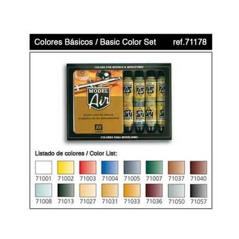 Набор Model Air Базовые цвета (16цв.)