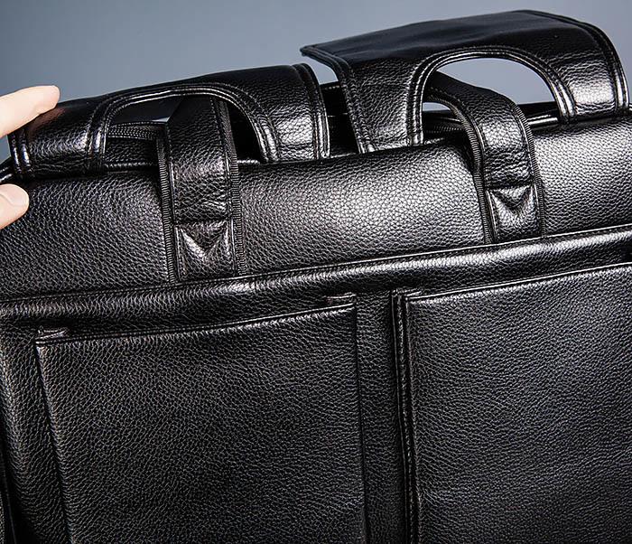 BAG536-1 Вместительный мужской портфель из кожи фото 07