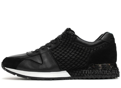 Кроссовки Мужские Louis Vuitton Run Away Black White
