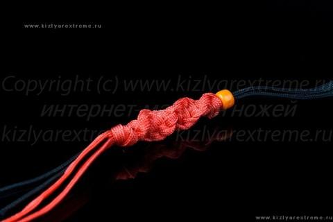 Красно-черный спиральный темляк