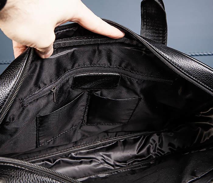 BAG536-1 Вместительный мужской портфель из кожи фото 08