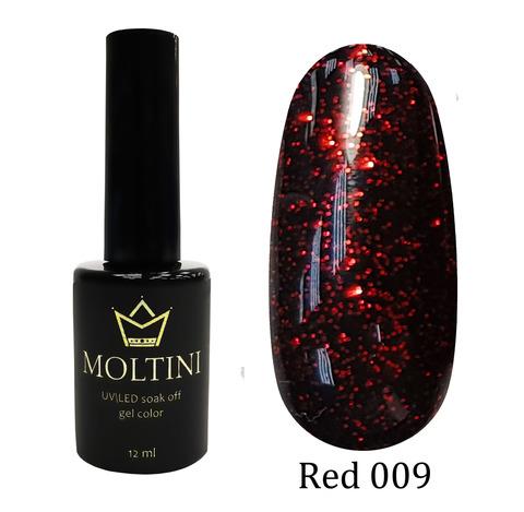 Гель-лак Moltini RED 009, 12 ml