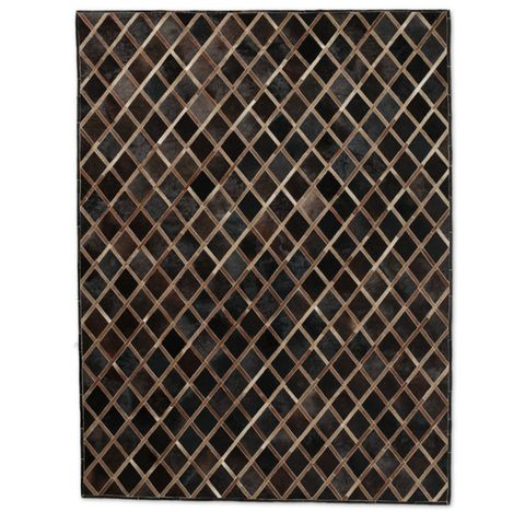 Cowhide Diamante Rug - Chocolate