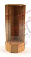 ВПН-403 Витрина угловая стеклянная с накопителем