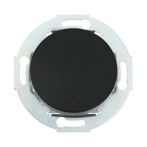 Выключатель-кнопка одноклавишный (схема 1T) 10А, 250В. Цвет Чёрный. LK Studio Vintage (ЛК Студио Винтаж). 880508-1
