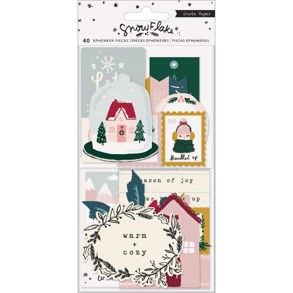Высечки Snowflake Ephemera Die-Cuts - Cardstock W/Copper Foil Accents- 40шт