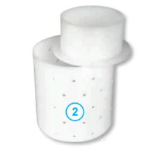 Круглая форма для сыра с крышкой (82 х 82 х 90  мм.)