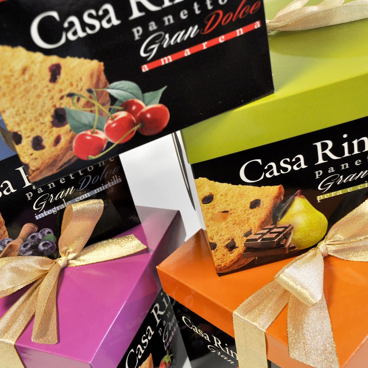 Кулич с кусочками груши и шоколада в подарочной коробке Casa Rinaldi 750г