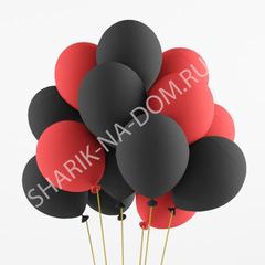 Облако черно-красных шаров