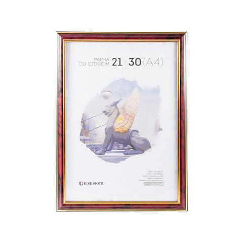 Ф/рамка рязань 21х30 PL2-3807-бордовый пластик (25)