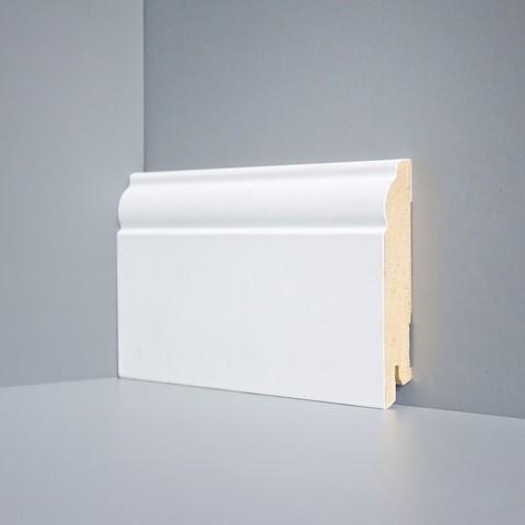 Белый ламинированный плинтус DEARTIO U104-100