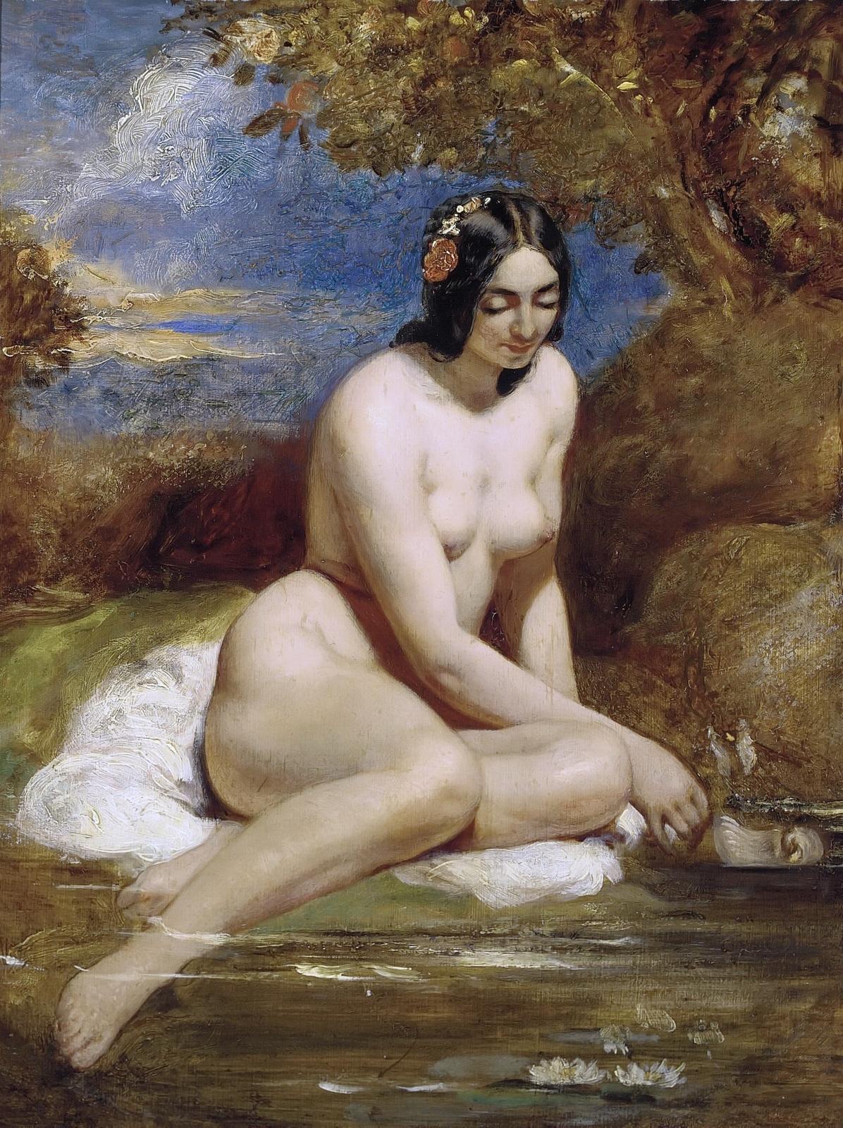 Уильям Этти. Купальщица (The Bather). 60 x 45. Частное собрание.
